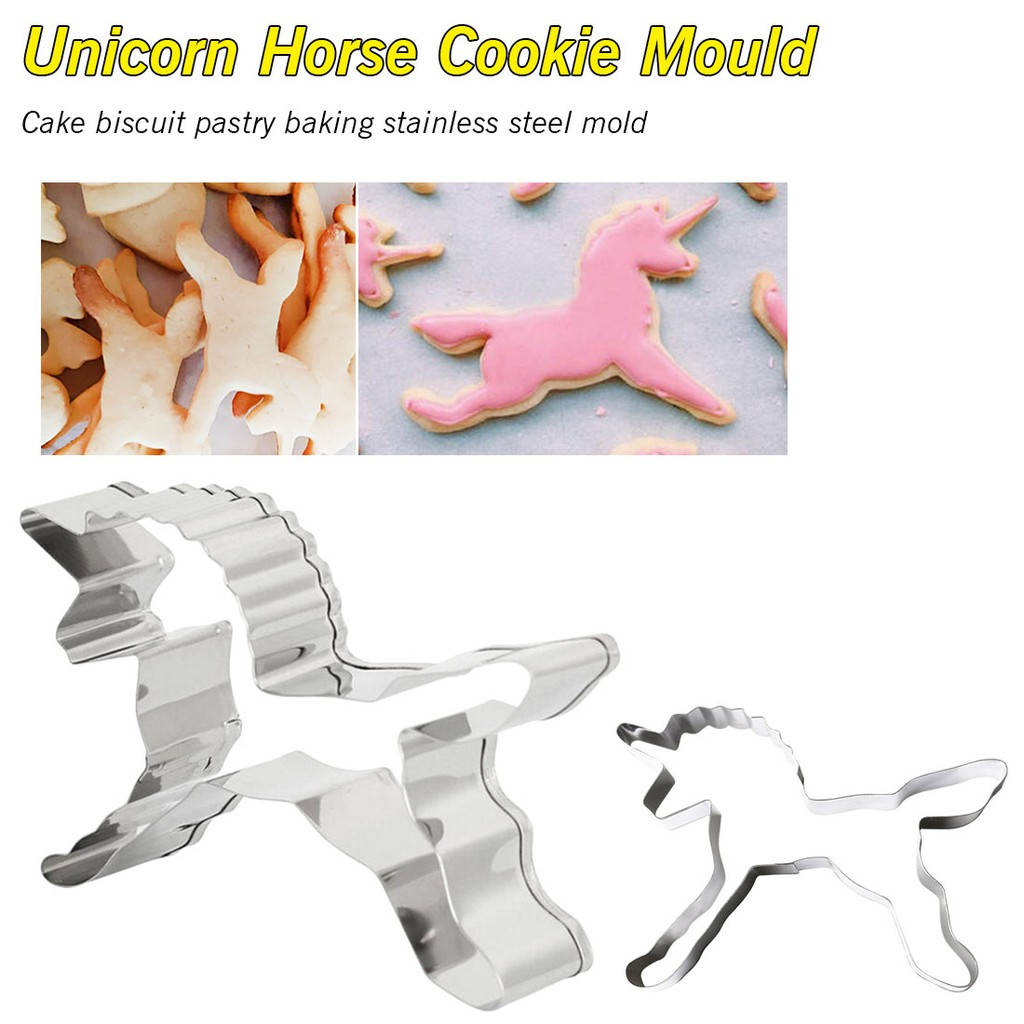 Animal Horse Stainless Steel Biscuit Cookie Cutter Fondant Cake DIY Mold A