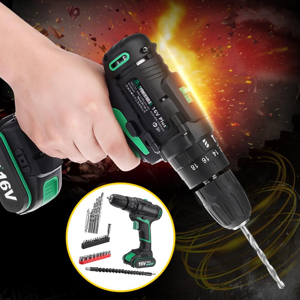 AC 100-240V Cordless Electric Drill Screwdriver Tool