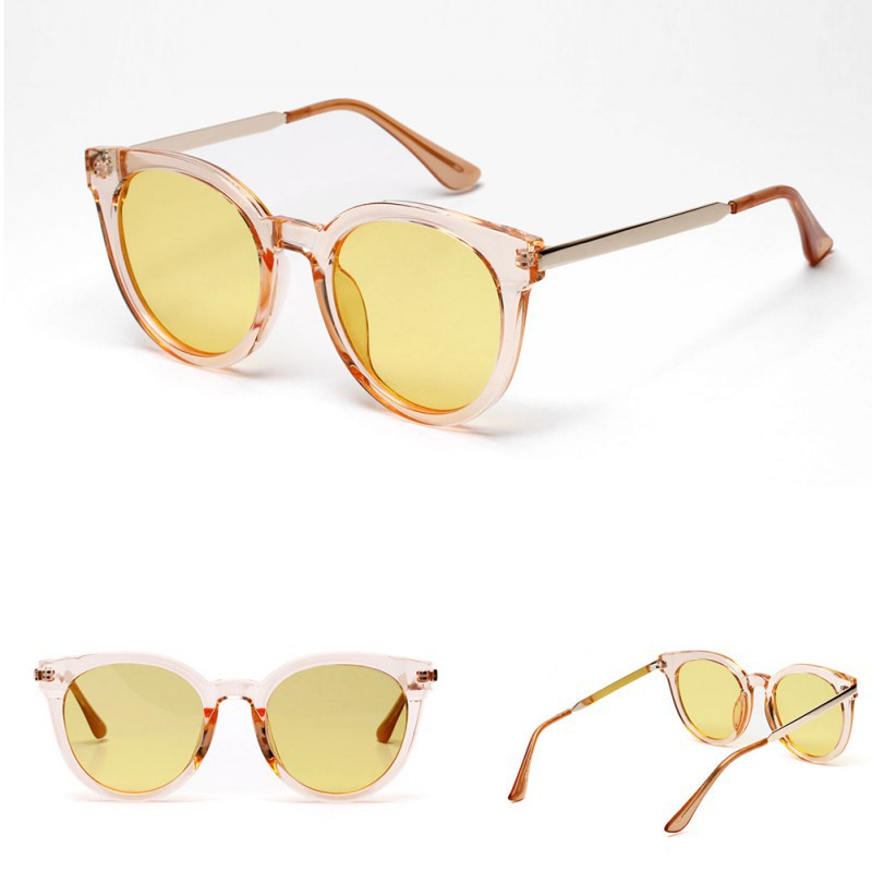 GE Women's Retro Shades Oversized Designer Lens Sunglasses Outdoor Driving Eyewear Glasses (Brown) | Shopee Singapore