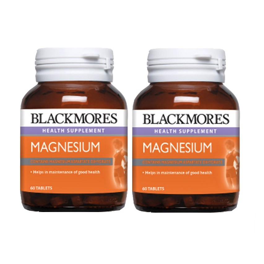 Blackmores Magnesium 60 tablets x 2 Bottles Assist in improving tiredness and fatigue.