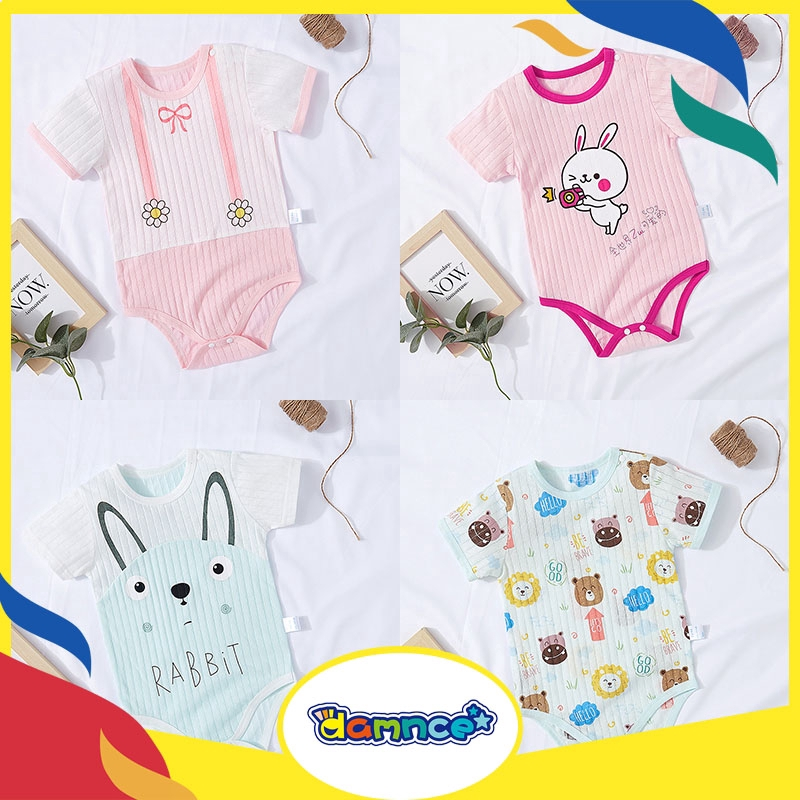 Baby Girl Boy Clothes Butterfly and Cartoon Pig Bodysuit Romper Jumpsuit Outfits Baby One Piece Long Sleeve