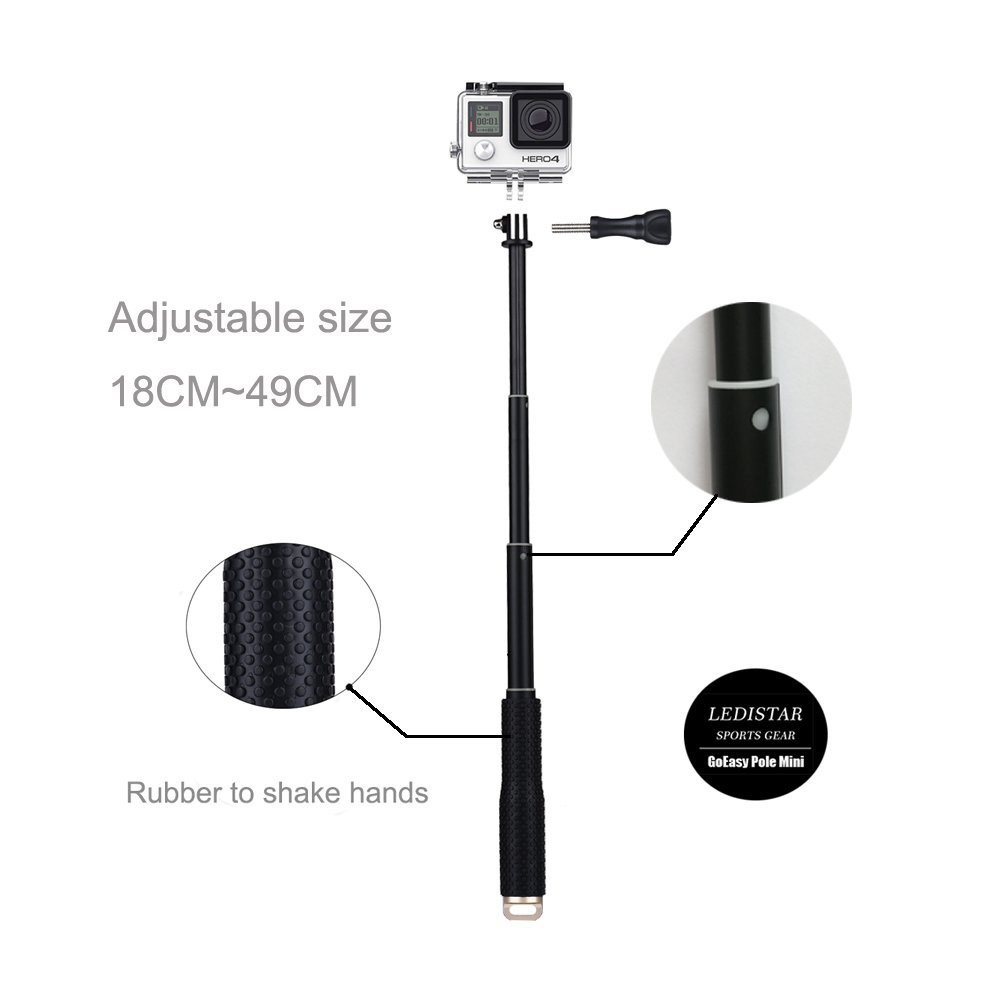 Selfie Stick 1.2m Action Camera Accessories Invisible Selfie Stick Compatible with Insta360 ONE X and ONE