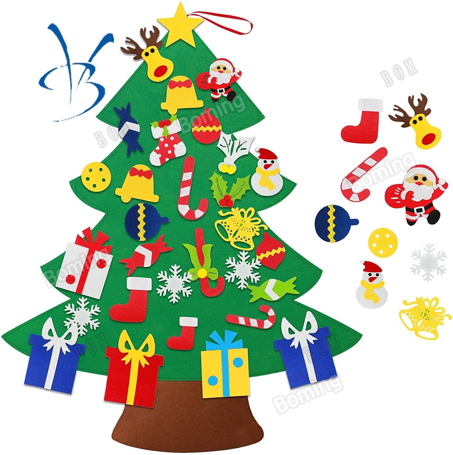 Diy Felt Christmas Tree 3 2ft Diy Xmas Trees For Toddlers With 30pcs Detachable Felt Hanging Ornaments Kids Xmas Gift Christmas New Year Wall Hanging Decorations Shopee Singapore