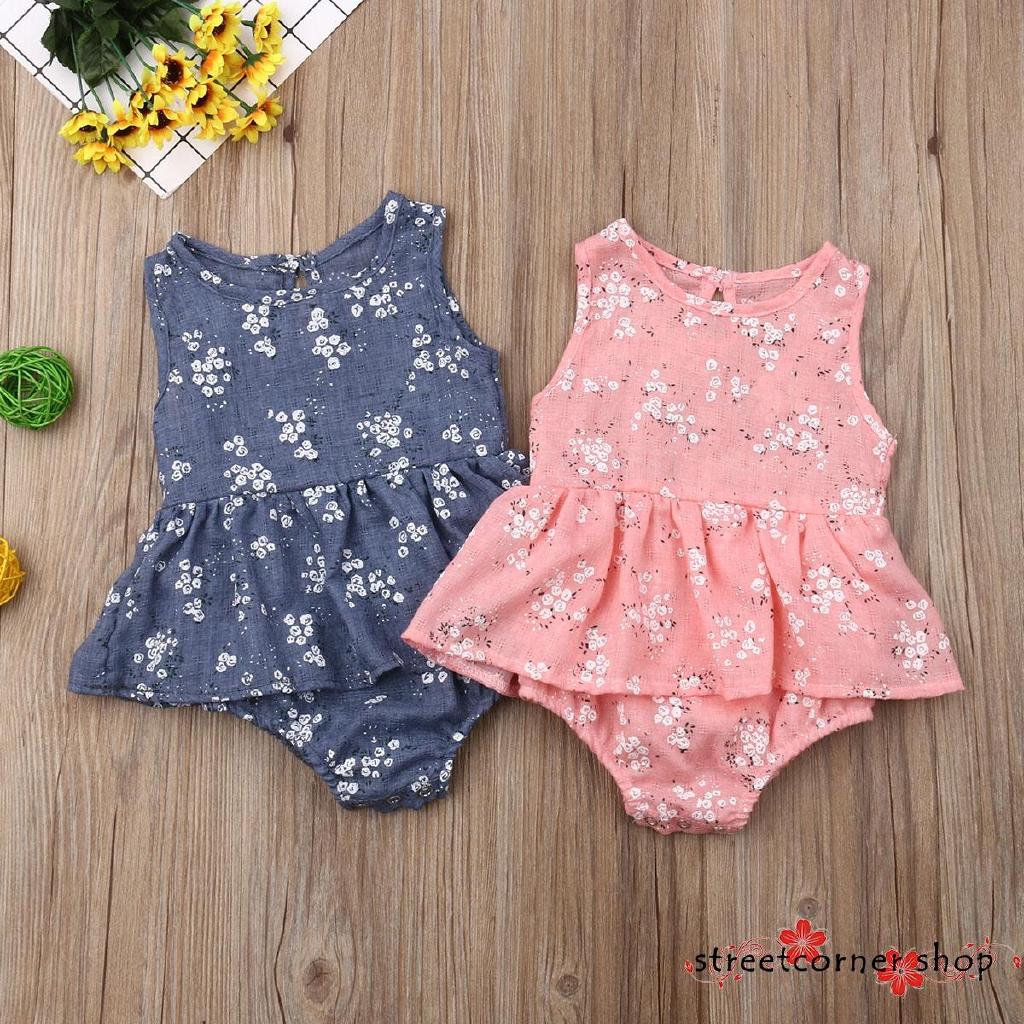 Infant Newborn Baby Girl Lace Bowknot Button Jumpsuit Romper Bodysuit Playsuit
