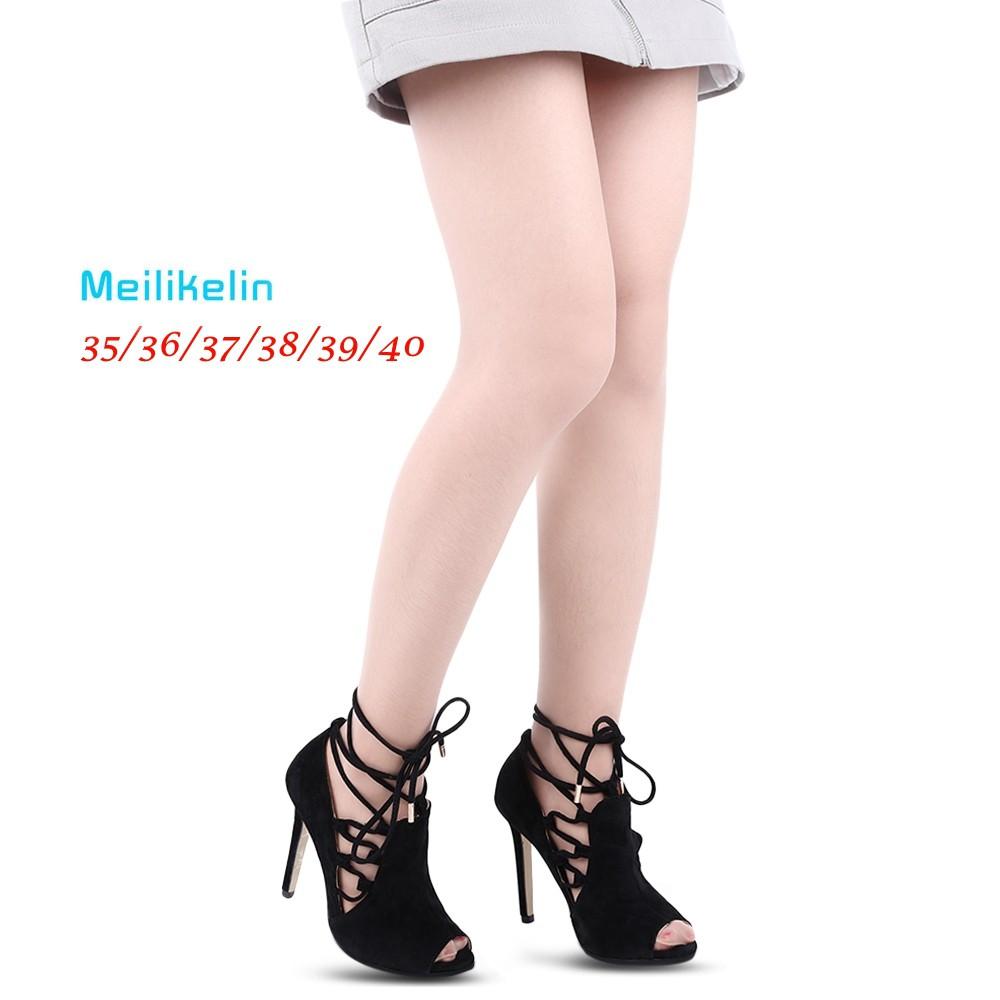 99bd4694da56 💯 Meilikelin Open Toe Lace Ladies Thin Heel Sandals