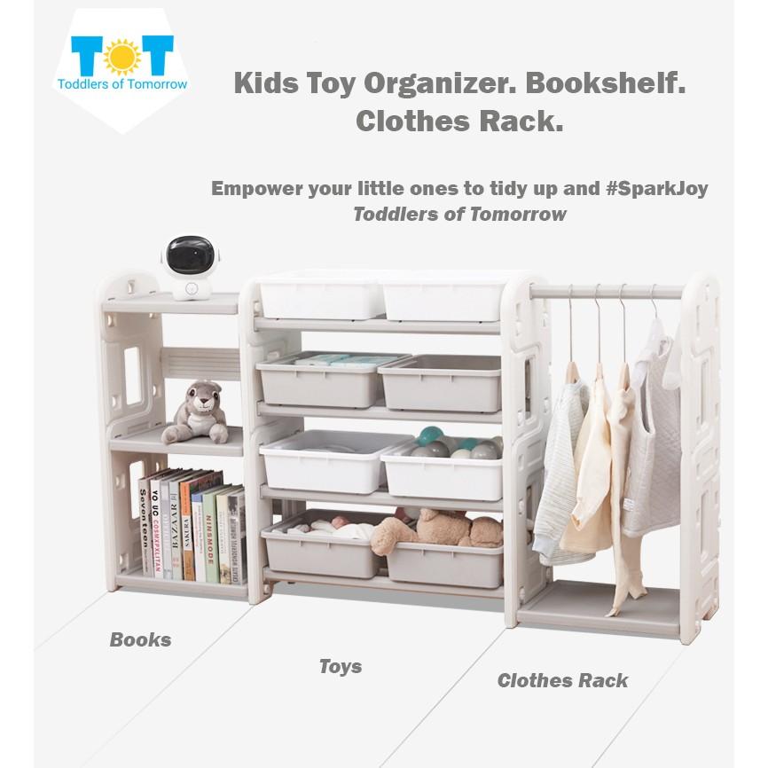 Kids Toy Storage Organizer Clothes Rack