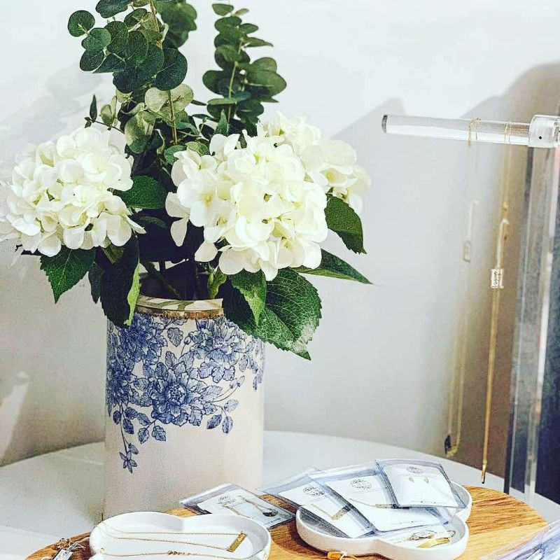 Ceramic Vase Blue And White Flowers Homedecor Shopee Singapore