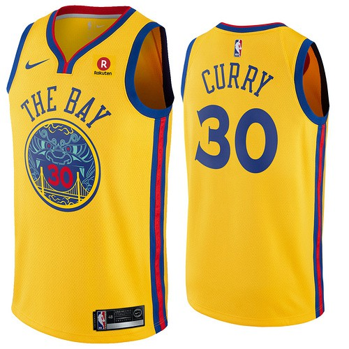 new style 66b9a b25dd 2018 NBA Nike Golden State Warriors Curry No.30 Basketball Jersey Men  Clothes