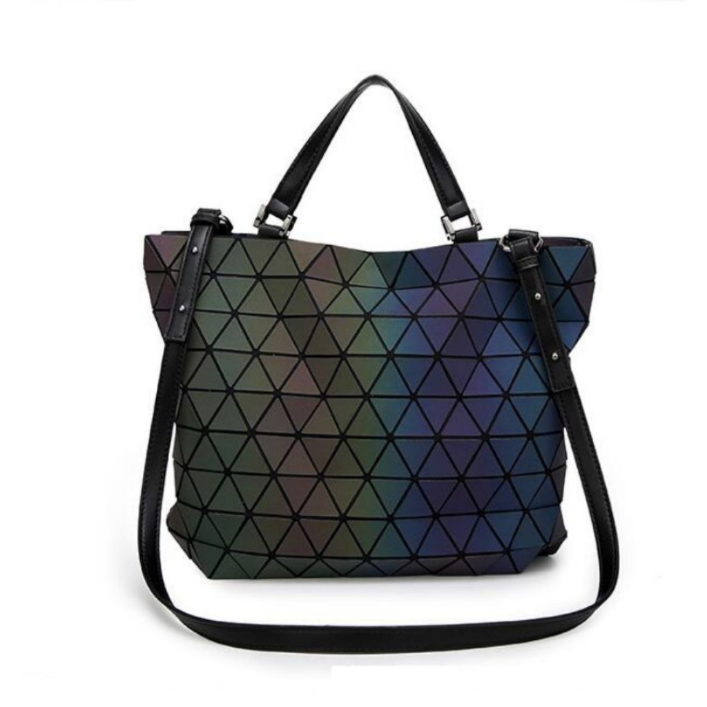 41c77cd73d43 Big Matte Black Luminous Issey Miyake BAOBAO 2-way Sling Shoulder Tote Diaper
