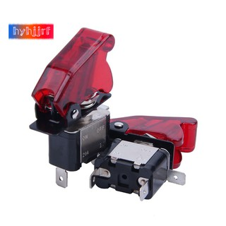 Toggle Switch Cover >> 2pc Red Led Spst Toggle Rocker Switch Control On Off 12v 20a With Safety Cover
