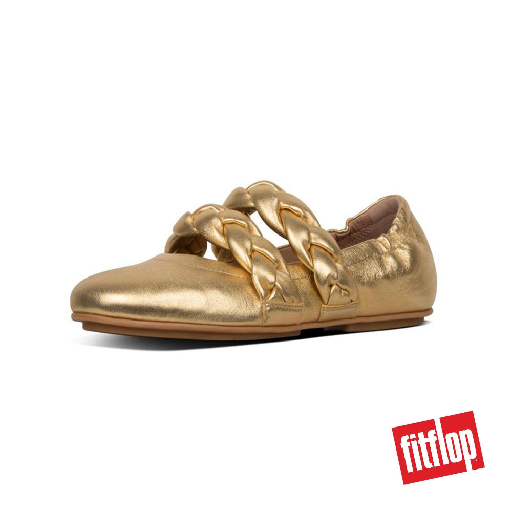 ceny odprawy kupować tanio najlepiej sprzedający się FitFlop™ Allegro™ Womens Braid Metallic Leather Ballerinas Artisan Gold
