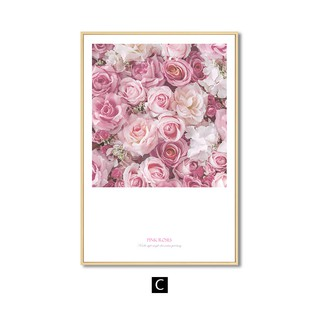 Pink Rose Flowers Wall Art Canvas Painting Posters And Prints Nordic Decoration Home Wall Pictures For Living Room Wall Decor Shopee Singapore