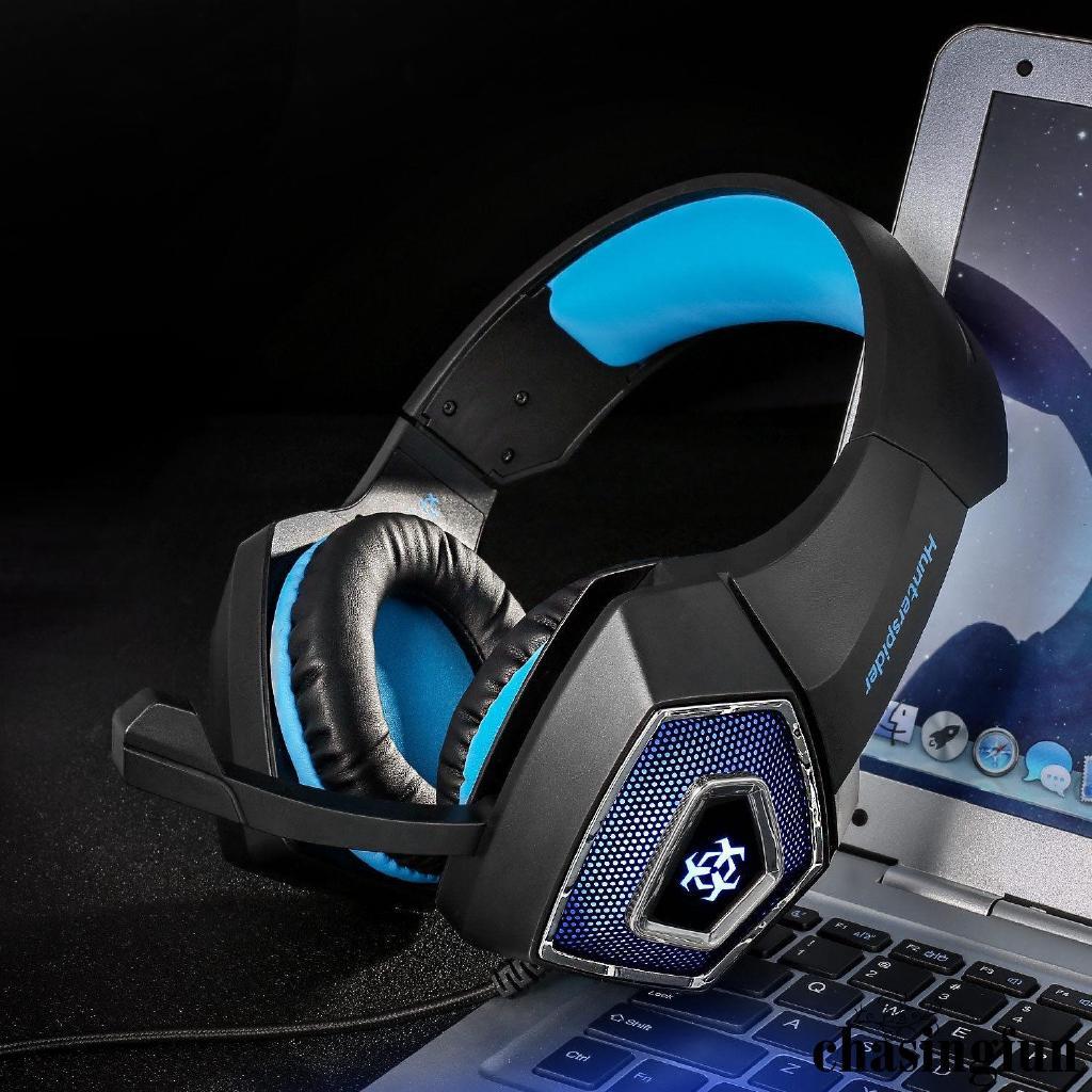 W✧✧Gaming Headset MIC LED Light Headphones for PC Mac