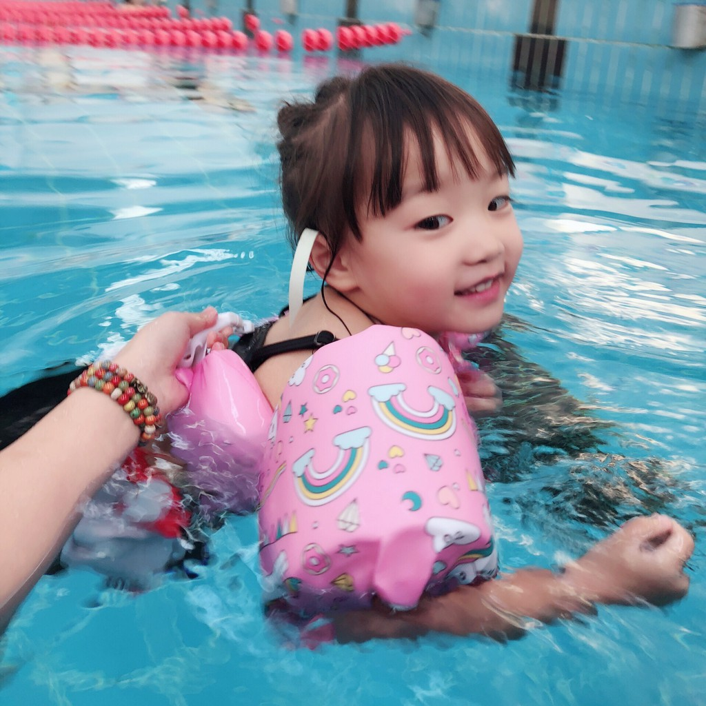 Feather Decoration Inflatable Swimming Ring Water Pool Circle Armpit Float Swimming Safety Ring For Summer Water Pool Playing Baby & Kids' Floats Toys & Hobbies