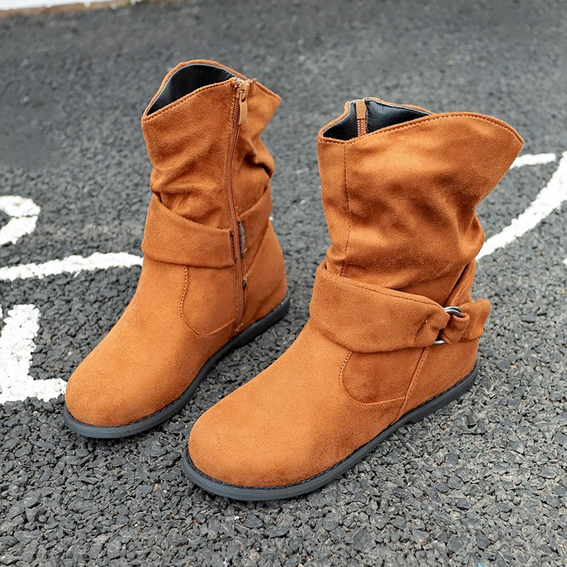 3133c3c7d Snow Ankle Boots Round Toe Soft Warmer Short Boots | Shopee Singapore