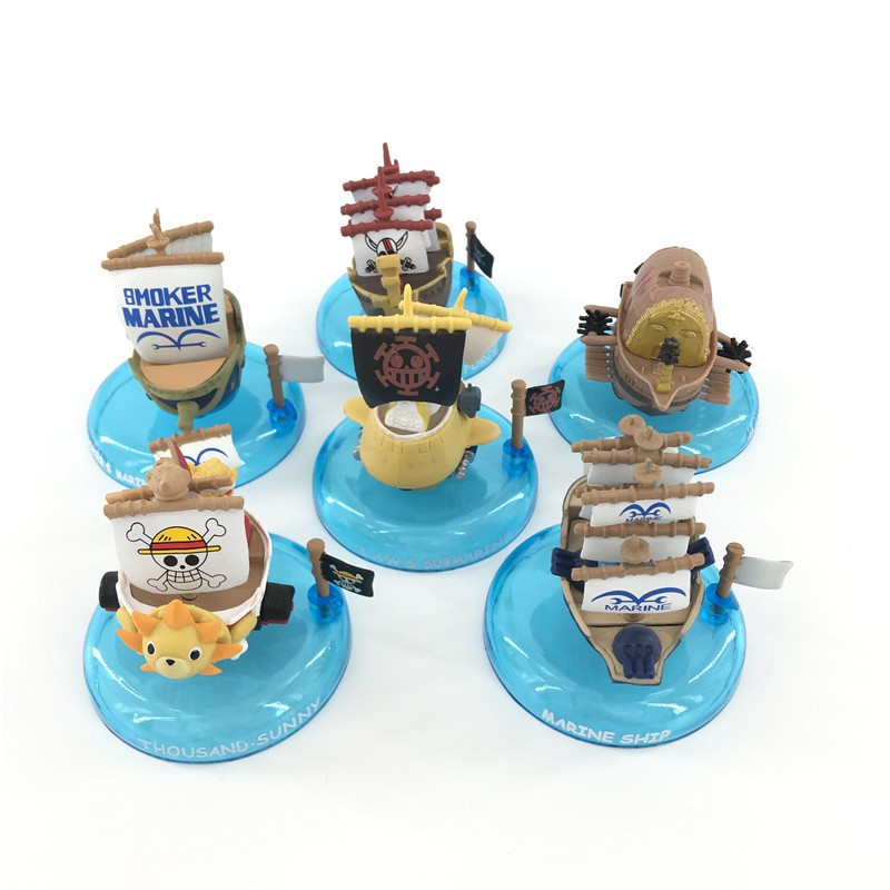 6PCS Anime One Piece Pirate Ship PVC Action Figure Collectible Figurine Toy Gift