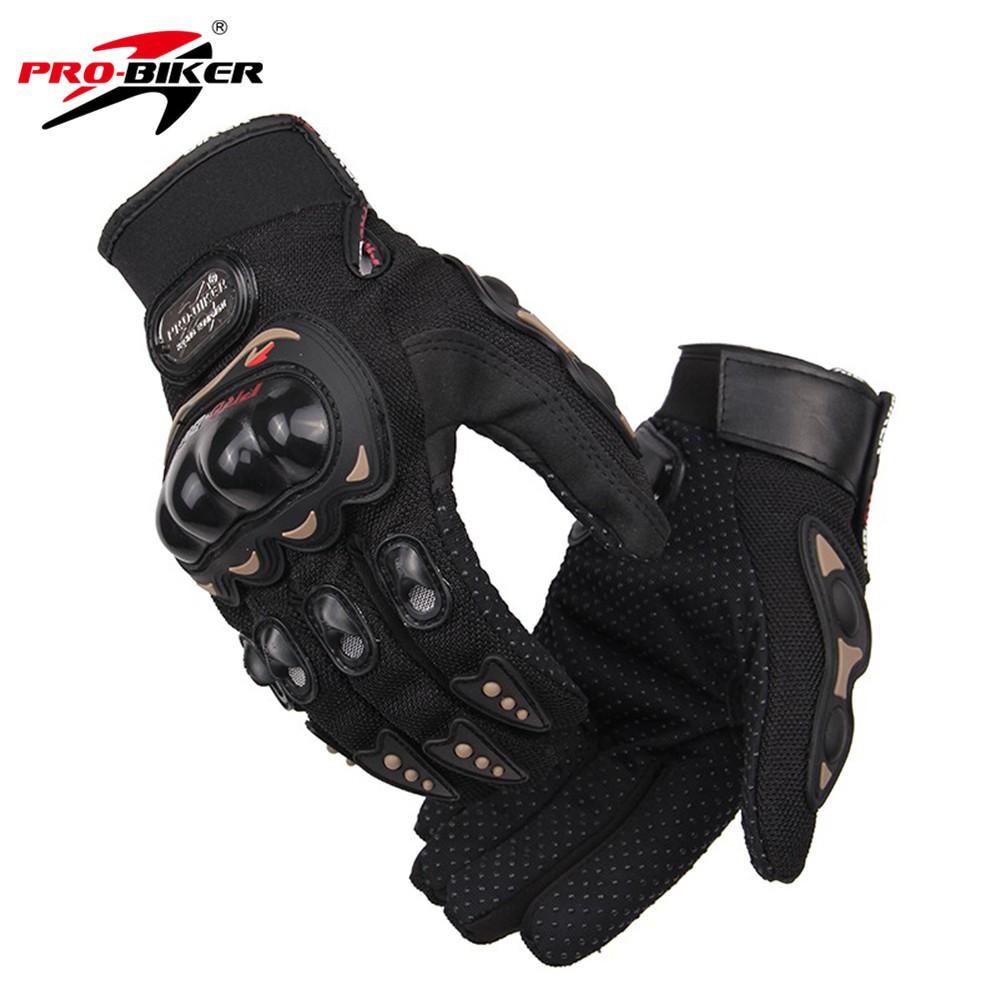 Pro-Biker Motocross Enduro Gloves with Protection M Black