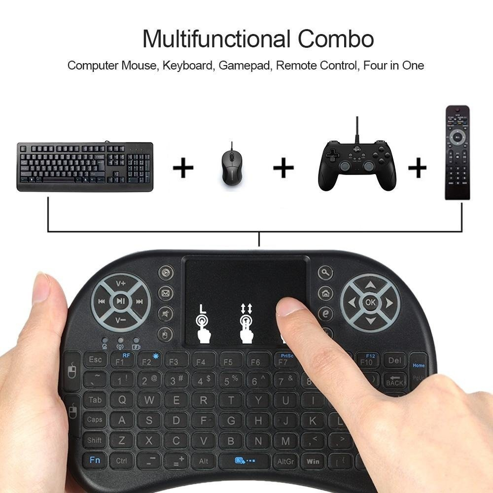 Wireless Keyboard Gamepad Game Air Mouse Touchpad Handheld Tv Remote Controller