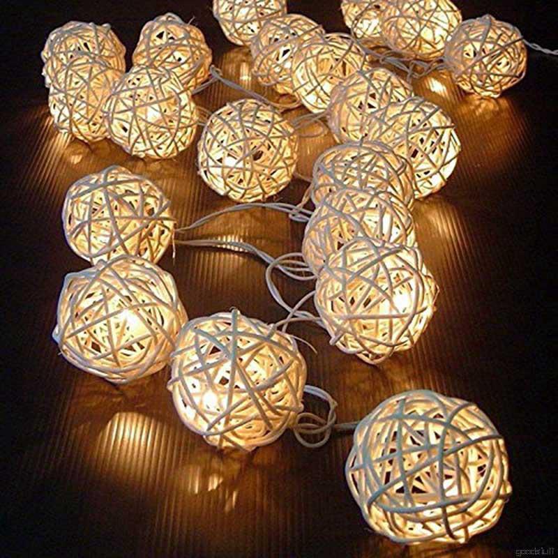 20pcs 2 5m String Lights White Wedding