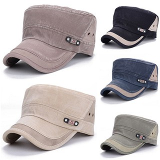Men Women Vintage Military Adjustable Cadet Hat Army Outdoor