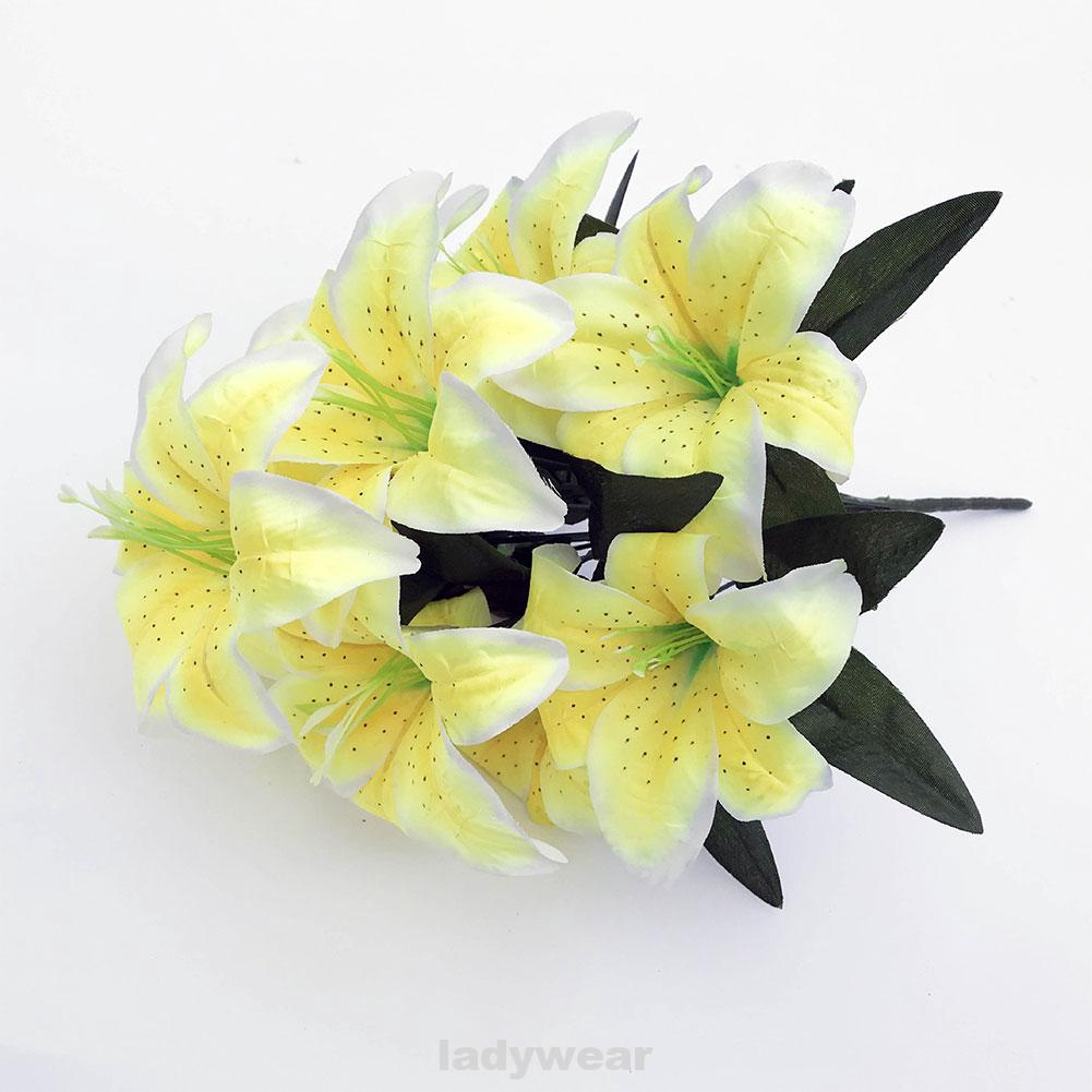 10 Heads Home Office Romantic Lily Bouquet Artificial Flower Shopee Singapore