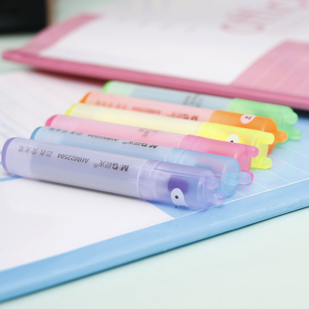 6Pcs//Set Painting Cartoon Mini Fluorescent Pen Ninja Highlighter Marker Drawing