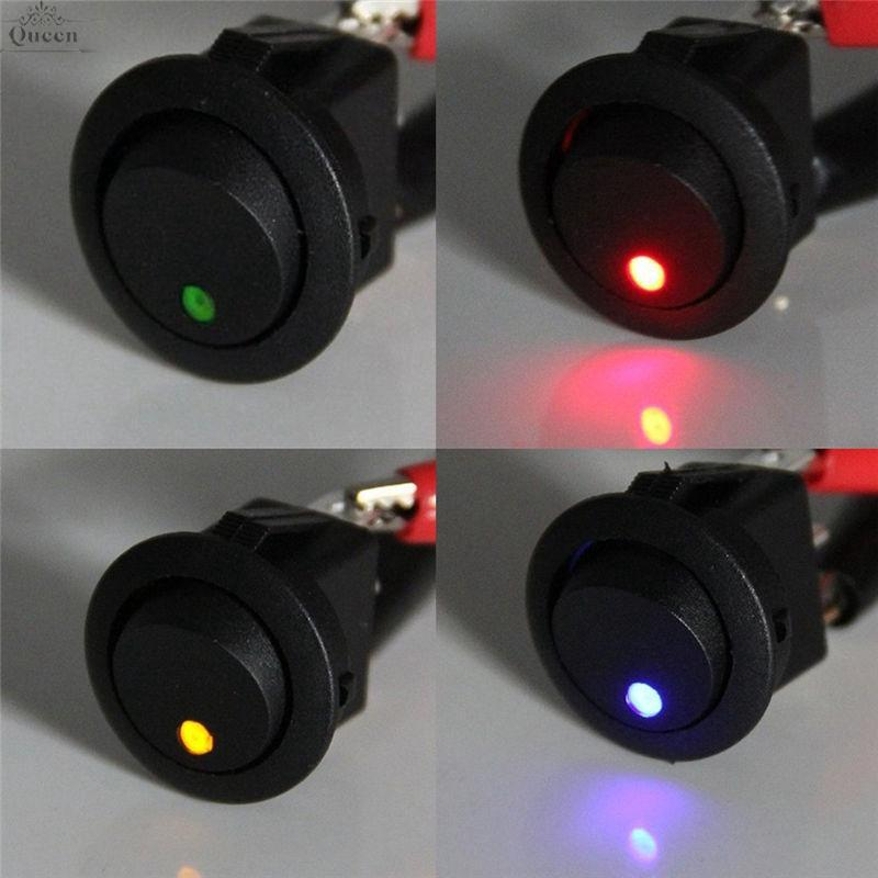 4Pc Round Rocker LED Light Toggle for car flashing lights chassis lights New