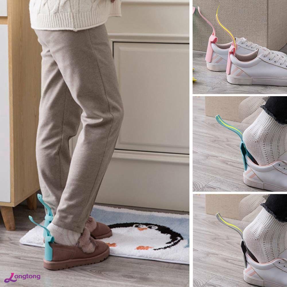 Portable Lazy Shoe Helper Unisex Handled Shoe Horn Easy on /& Off Shoe Lifting US