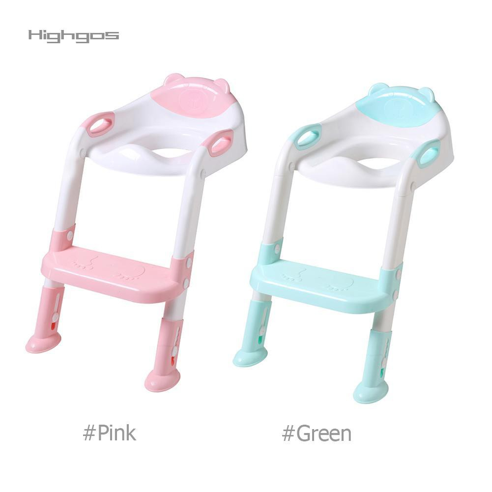 Potty Toilet Trainer Seat with Step Stool Ladder Adjustable Baby Toddler Kid Pot