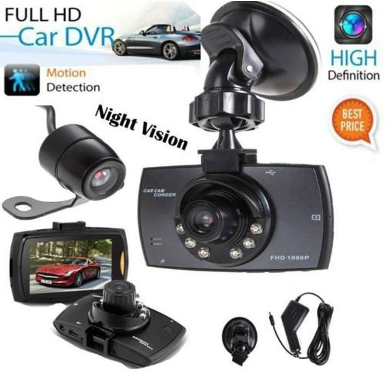 HD Dash-Cam Dual Camera Front+InCab Driving Recorder Car DVR GPS Logger