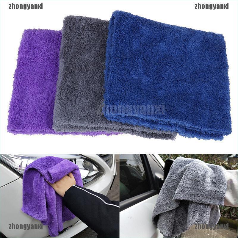 10x Yellow EDGELESS Microfibre Buffing Cloths Car Cleaning Wax Wash Polish Towel