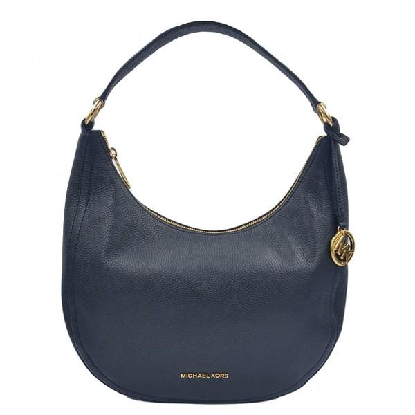 3b47c6315c8 Michael Kors Lydia Medium Shoulder Bag Navy Blue