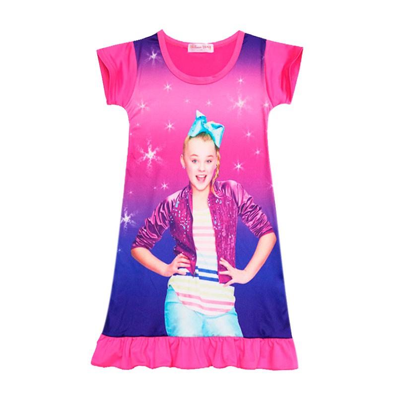 66f0a79ff1ff1 Jojo Siwa Kids Girls Dress Short Sleeve Summer Dress Pajamas ...