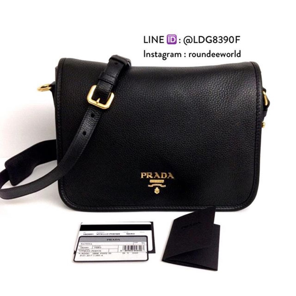7abc2aaef6c3 Prada Vitello Phenix Convertible Handbag 1BA063 - Black