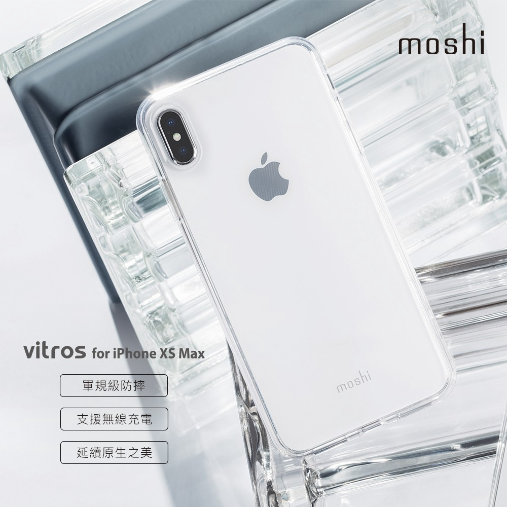 check out 37b57 e902e Moshi Vitros Clear Case for iPhone XS Max