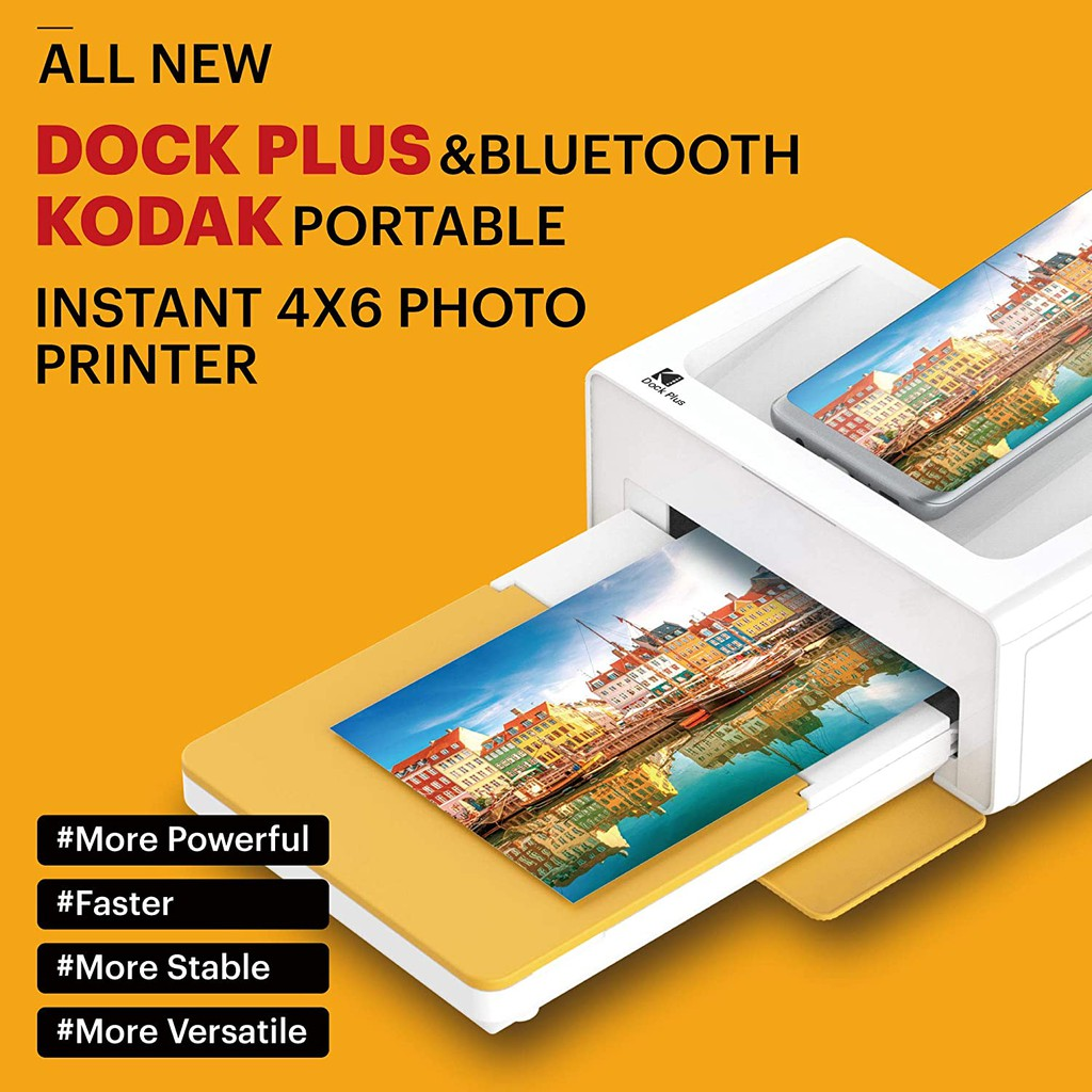 Kodak 2020 Brand New Dock Plus Dock 2 Instant Photo Printer Bluetooth Portable Photo Printer Full Color Printing Mobile App Compatible With Ios And Android Convenient And Practical Shopee Singapore