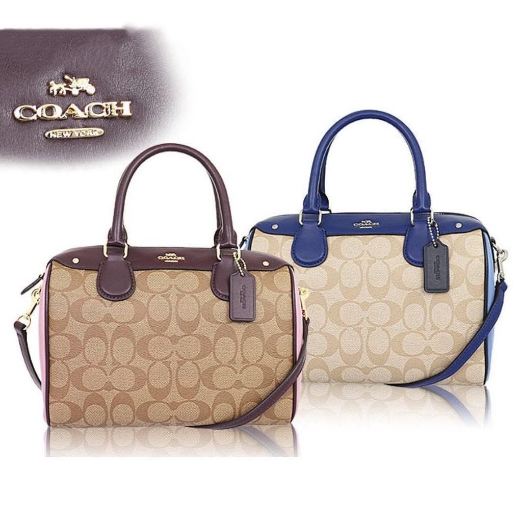 Coach Boston Leather Bag F57521 F57495