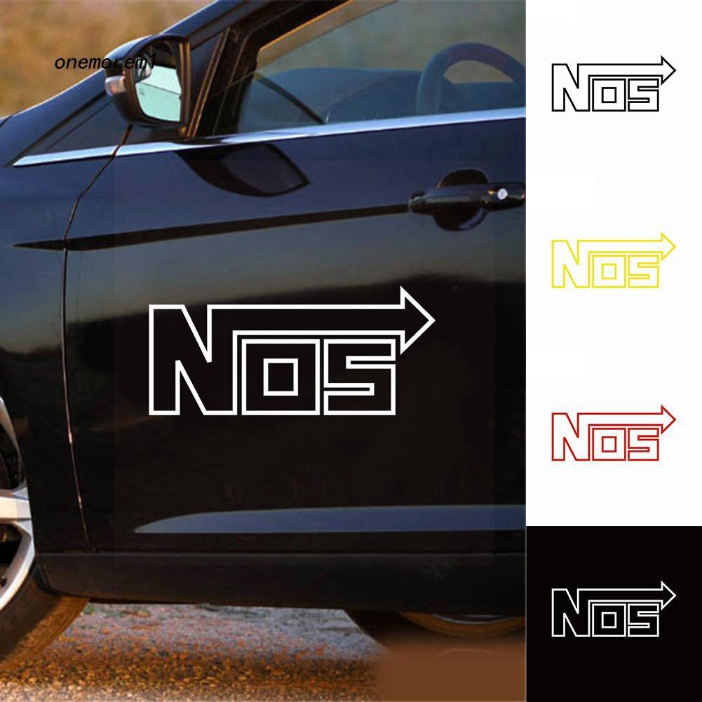 Nos decal sticker racing logo euro JDM nitrous oxide systems Pair