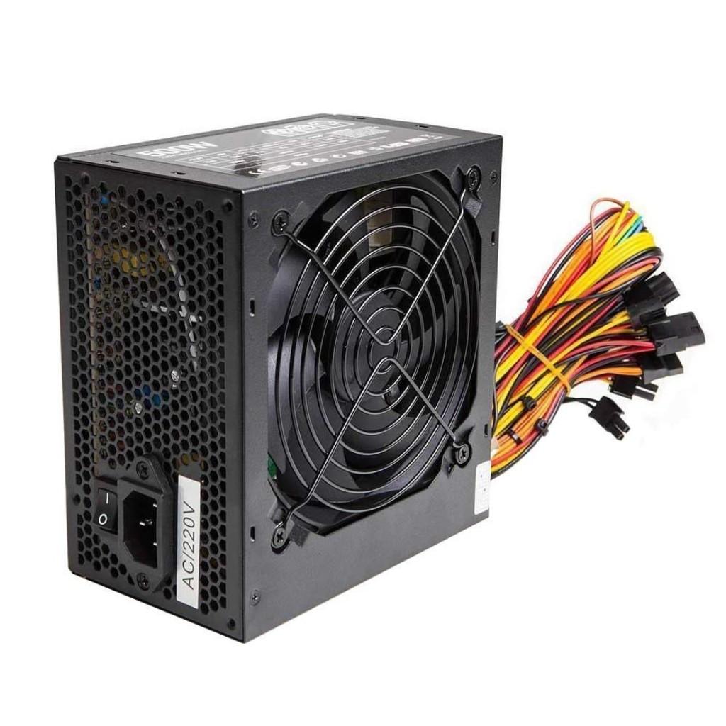 Black 500W ATX PC Power Supply PSU With 12CM Quiet Fan
