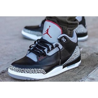 buy cheap 8bc13 8bb93 Authentic Nike Air Jordan 3 Black Cement AJ3 Black Cement crack during