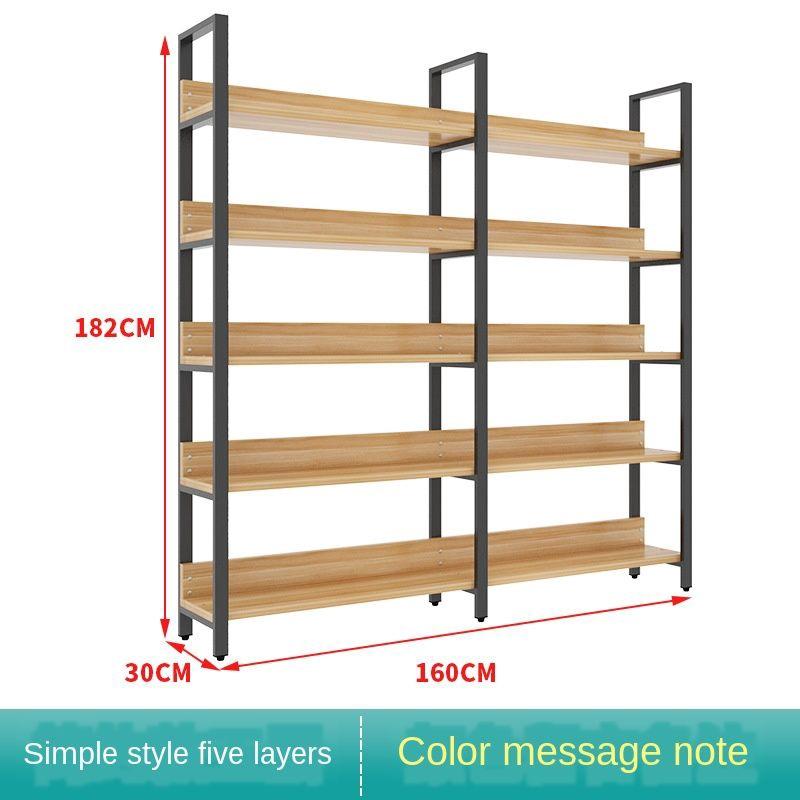Steel And Wood Bookshelf Iron Shelf, Wood Storage Racks