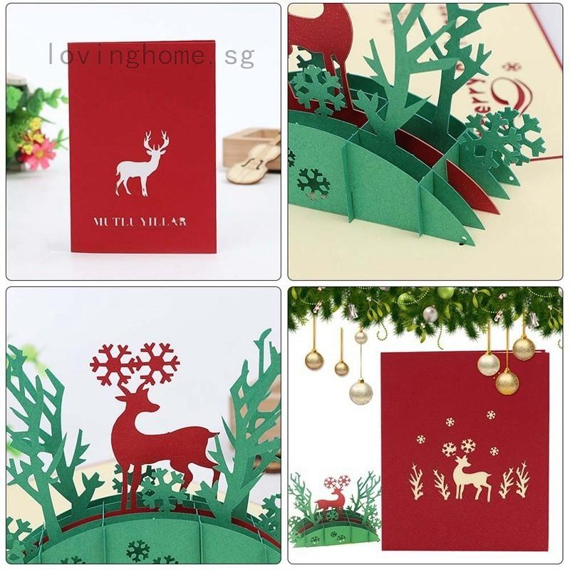 Christmas Greeting Cards Handmade.3d Popup Greeting Card Handmade Christmas Card Postcards