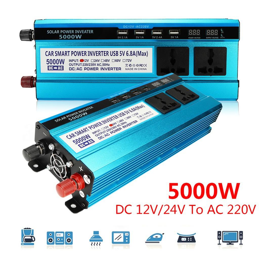 Heimwerker Solarenergie 1000w Car Power Inverter Dc12v To Ac220v Dual Usb Charger Converter Inverter#l A Complete Range Of Specifications