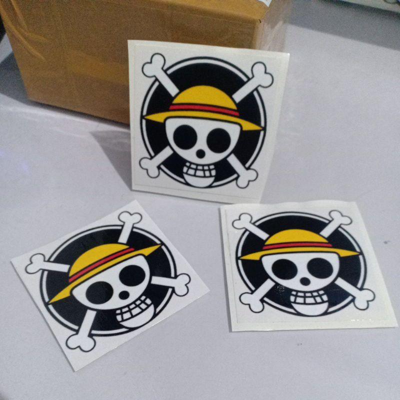 Sticker Logo Monkey D Luffy Anime One Piece Unofficial Shopee Singapore