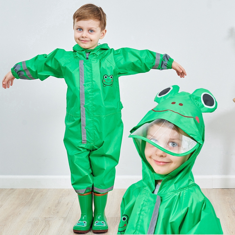 f8883fbf8 Children Hooded Raincoat Poncho Boy Baby Conjoined Poncho Students ...