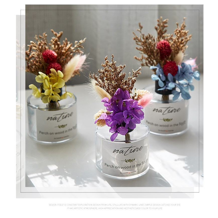 Ins Air Dried Flower Bouquet Small Bouquet Home Desktop Furnishings Nordic Small Shopee Singapore