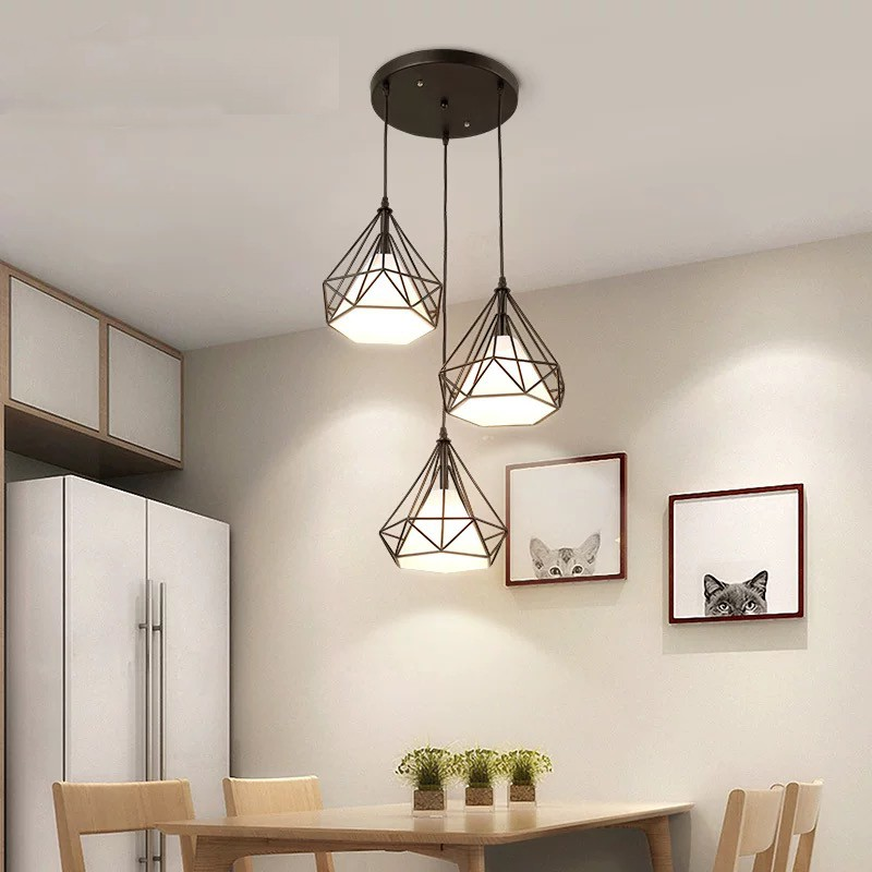 Modern 3 Pendant Lighting Nordic Minimalist Pendant Lights Over Dining Table Kitchen Island Hanging Lamps Dining Room Lights E27 Shopee Singapore