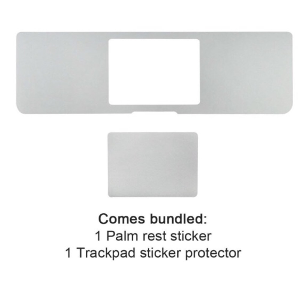 Palm Rest Cover with Trackpad Protector Sticker Skin Silver