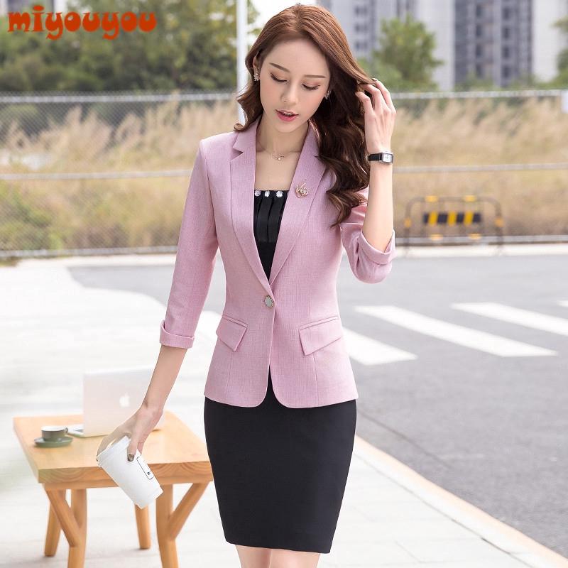 preț redus Cumpără murdărie ieftine women summer office wear blazer and long pants set or fashion ...