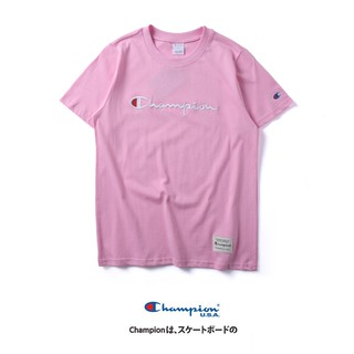 3602dff5f2b4 💖Ready Stock 💖Champion Embroidery Couples T-Shirt Round Collar ...